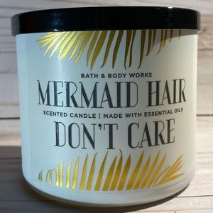 NEW! BBW Mermaid Hair Don't Care 3 Wick